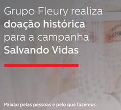 Com aporte do Grupo Fleury, R$ 2 milhões serão destinados no  auxílio ao combate à pandemia
